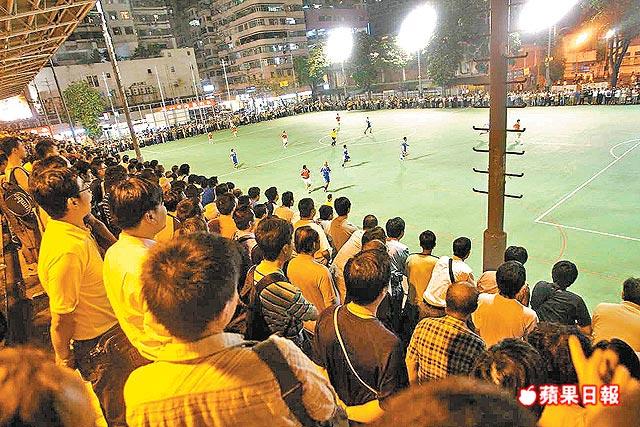 南華邀請隊首次到麥花臣球場,即吸引過千球迷觀戰