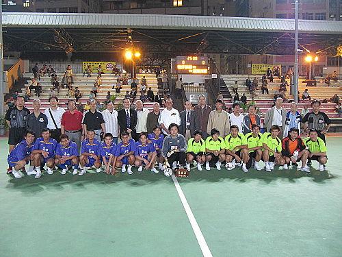 雙方球員與嘉賓決賽前大合照